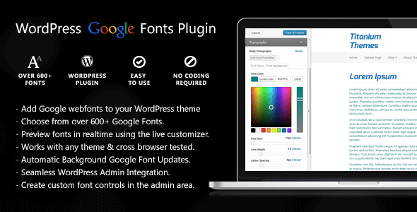 Easy Google Fonts WordPress Plugin