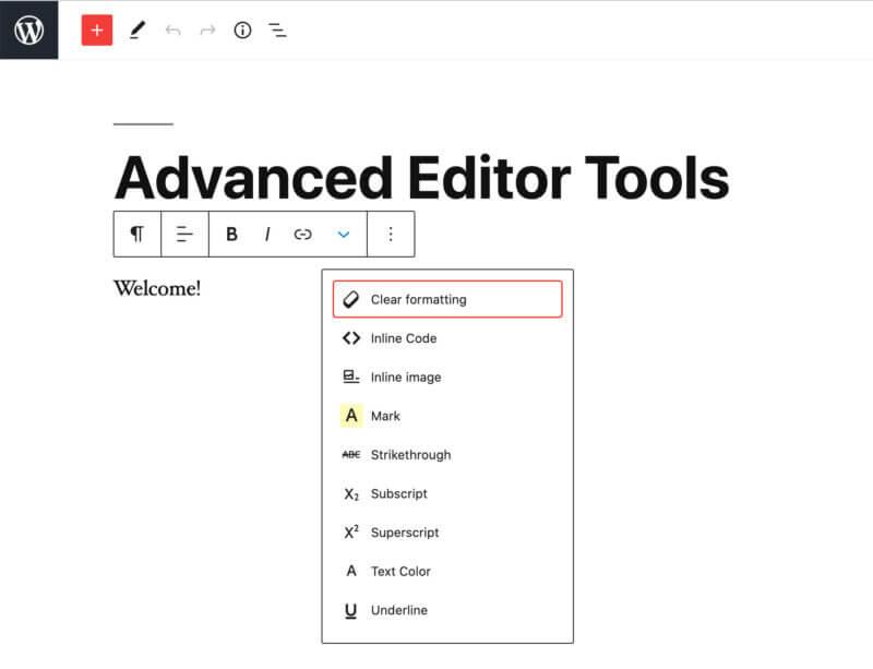 TinyMCE Advanced WordPress plugin